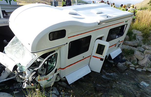 Campervan crash
