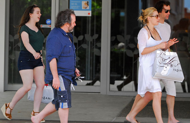 Katie and Peter Jackson accompany newlyweds Kate Winslet and Ned Rocknroll