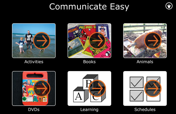 iPad app,  Communicate Easy iPad