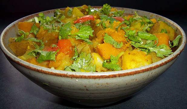 Potato vege curry