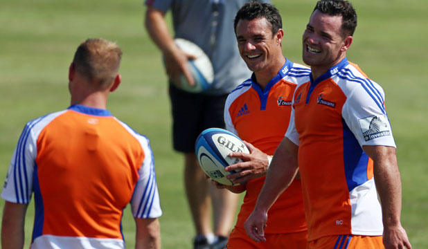 Dan Carter and Ryan Crotty