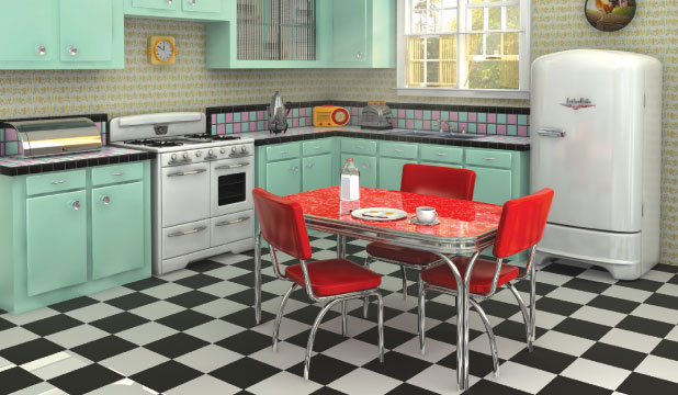 Talk of the formica table for 50s style kitchen table