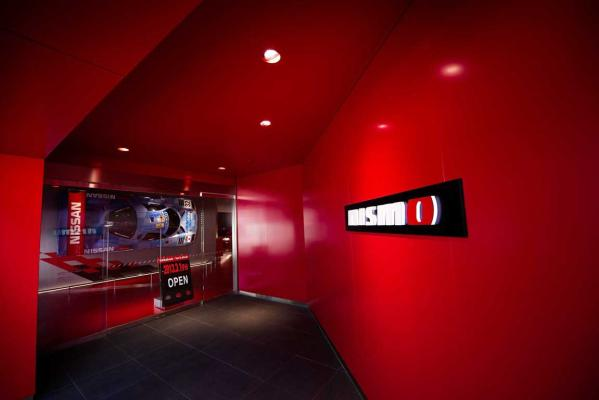 New Nismo headquarters showroom.