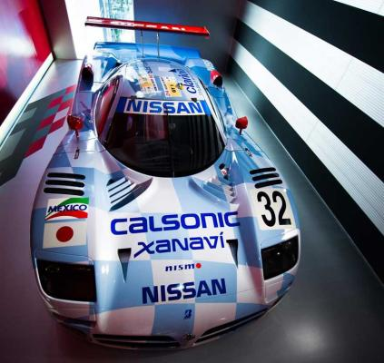 The Nissan R390 GT1 Le Mans car.