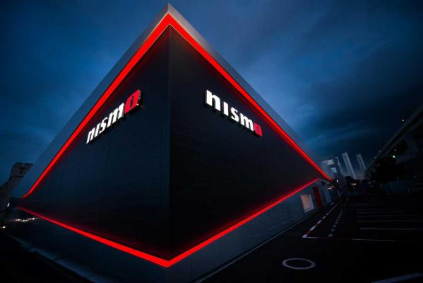 The new Nismo headquarters by night.