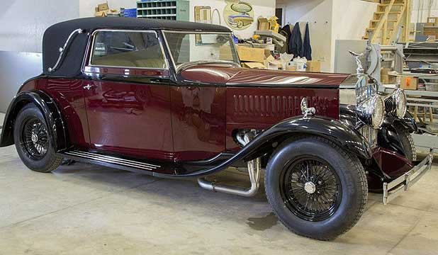 The restored and repowered 1930 Rolls-Royce after having a 2004 V10 Viper engine installed.