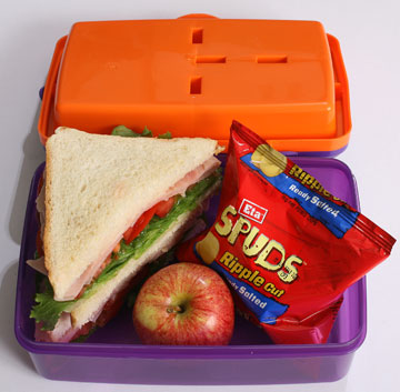 The contents of this lunchbox cost $1.56, or $7.80 for the school week.