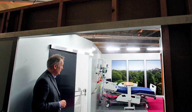 Christchurch Hospital room mock-up