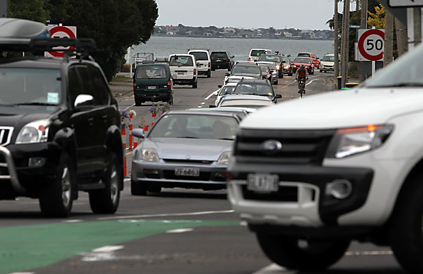 Ferrymead traffic jam
