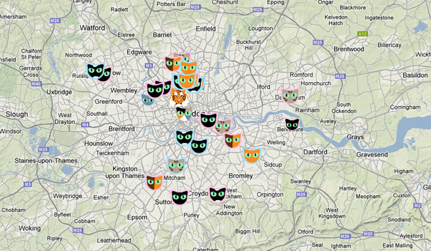 London cat map
