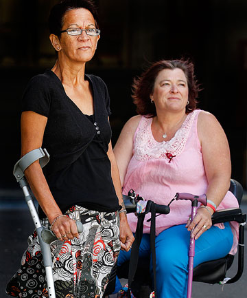 Freda Evans, of  Papatoetoe, Auckland, left and Allyson Lock, of Masterton, have Pompe disease.