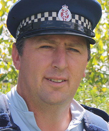 WORKING THE BEAT: Constable Ross Humphrey.
