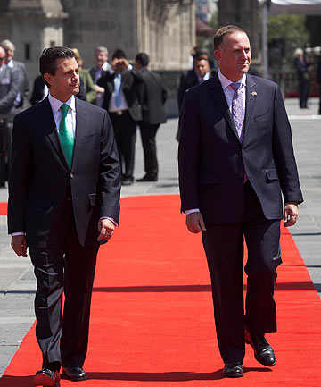 Enrique Pena Nieto and John Key
