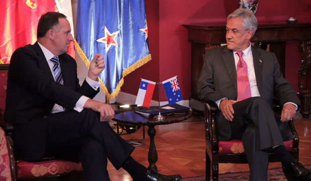John Key and Sebastian Pinera