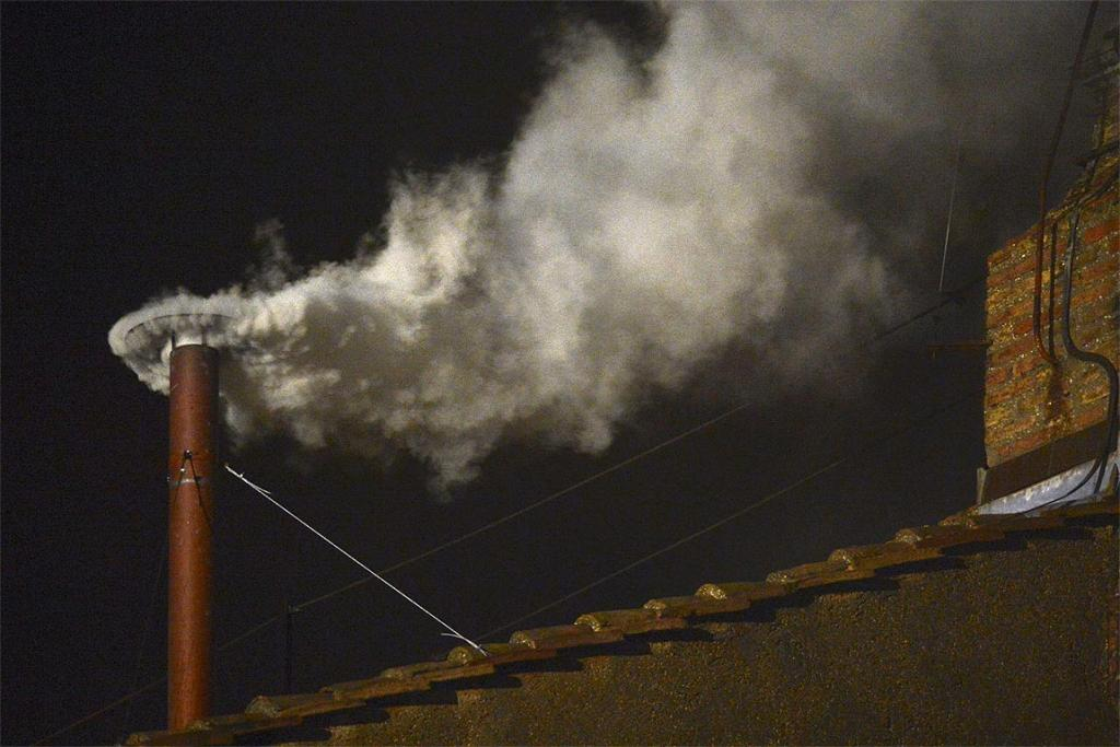 WHITE SMOKE: A new pope has been elected.