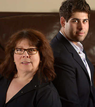Debbie Wiener and her son, Sam Weinberger