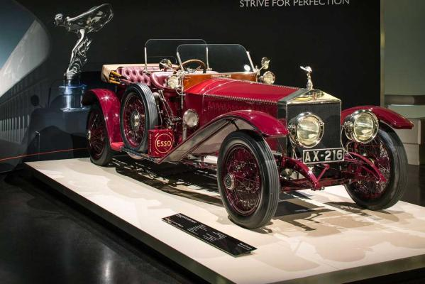 The Rolls-Royce Motor Cars exhibition at the BMW Museum in Munich.