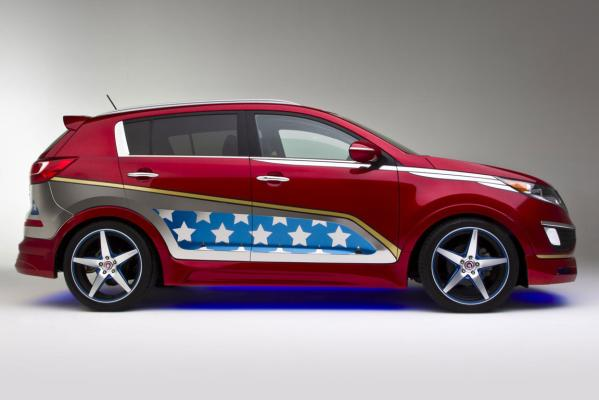 Kia's Wonder Woman Sportage.