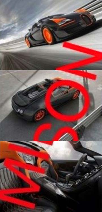 Images that appeared on the Internet purport to show Bugatti's new world record-breaking car.