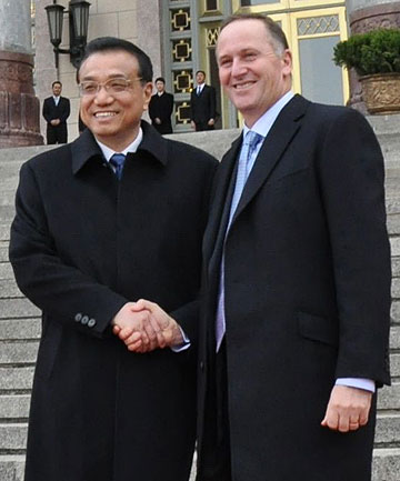 John Key and Li Keqiang