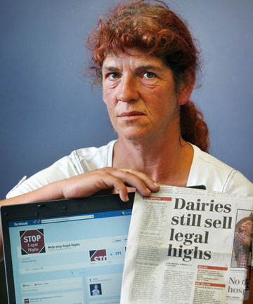 Sue Eade, of Timaru,  knows only too well how legal highs can wreck a family. Her two sons have used the legal substance K2 with disastrous consequences.