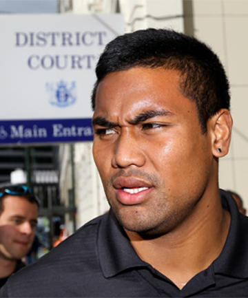 Julian Savea arrives at court
