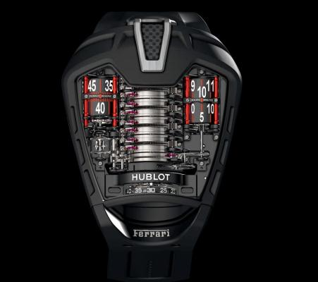 The Hublot MP-05 Ferrari LaFerrari tribute watch.
