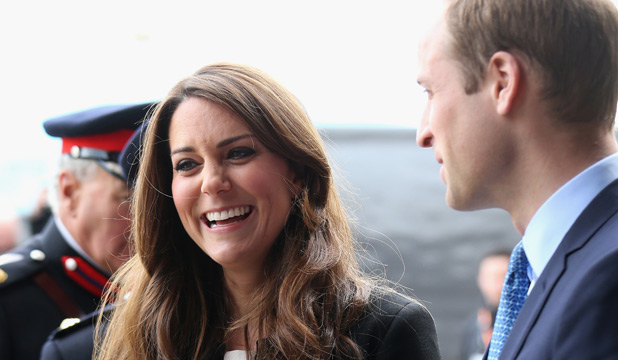 THE BOSS: Kate Middleton, seen here with Prince William, is calling the shots.