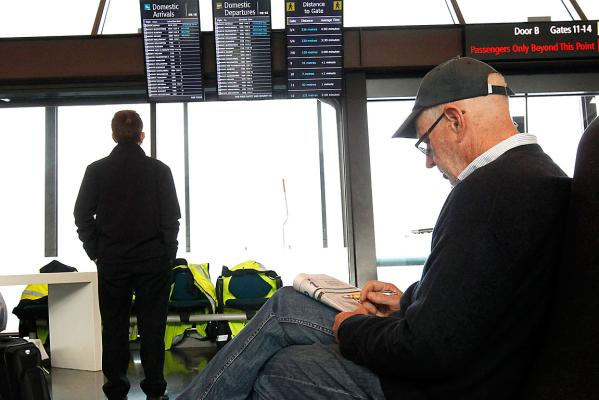 Christchurch Airport passenger waiting