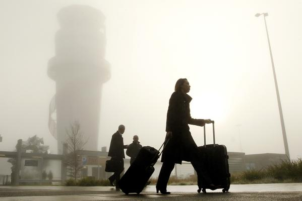 Fog at Christchurch airport