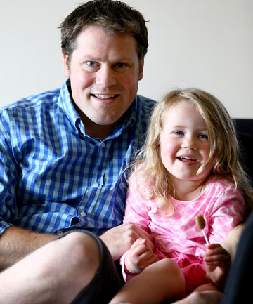 Rick Teal, with Jaslyn, 3, has no idea how the fast-moving disease entered his system.