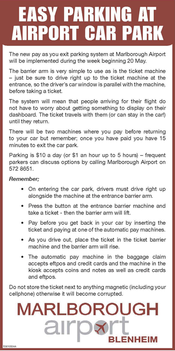 parking instructions
