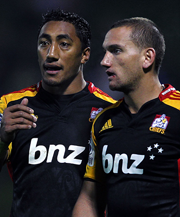 Bundee Aki and Aaron Cruden