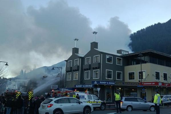Station Building fire