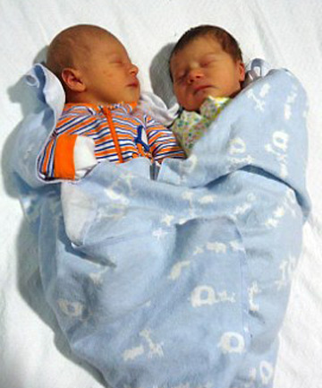COUSINS: Ivory Mae Cushing and Keiran Leighton Carter.