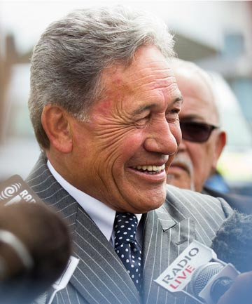 ON THE ATTACK: Winston Peters.