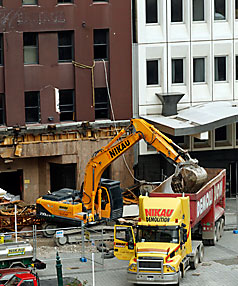 Heritage tower demolition