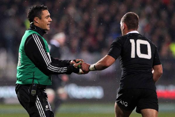 Dan Carter and Aaron Cruden
