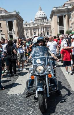 Bikers get papal blessing