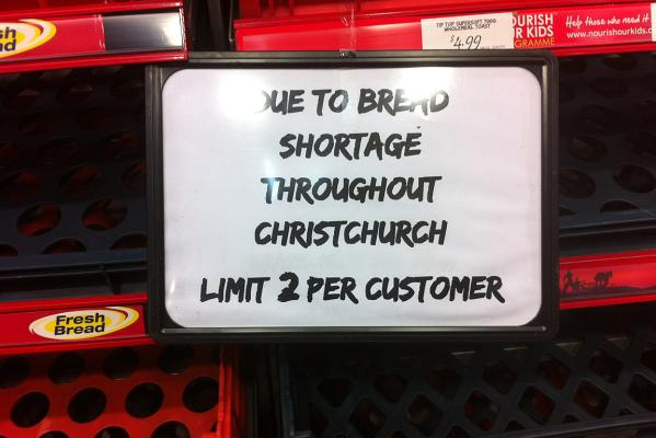 Bread shortage