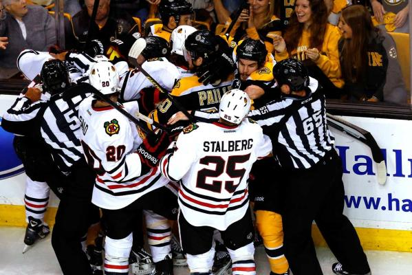 Boston Bruins and Chicago Blackhawks
