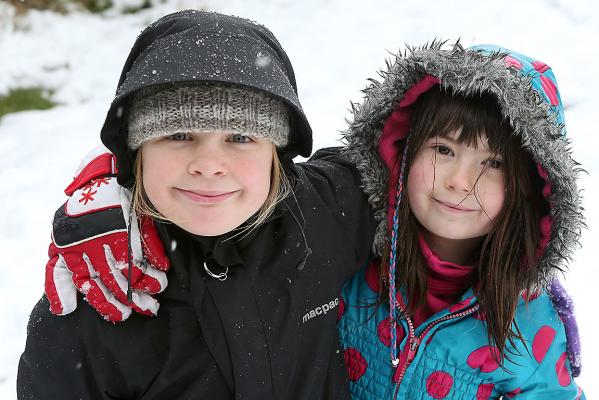 Bailey Baker, 8, and Sophie Toulson
