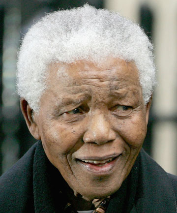 A 2004 file photo of Nelson Mandela. The anti-apartheid hero and former South Africa president is now in a critical condition in a Pr