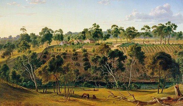 The Farm of Mr Perry on the Yarra