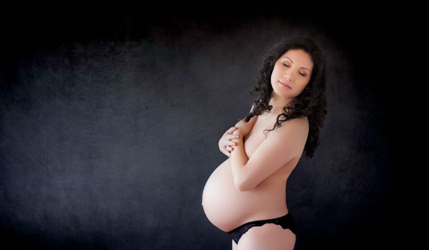 Xinyu Zhang is among an increasing number of  Christchurch women having professional photoshoots while pregnant.