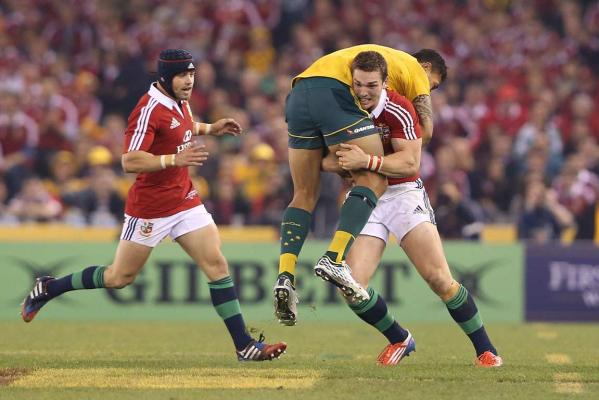 George North and Israel Folau
