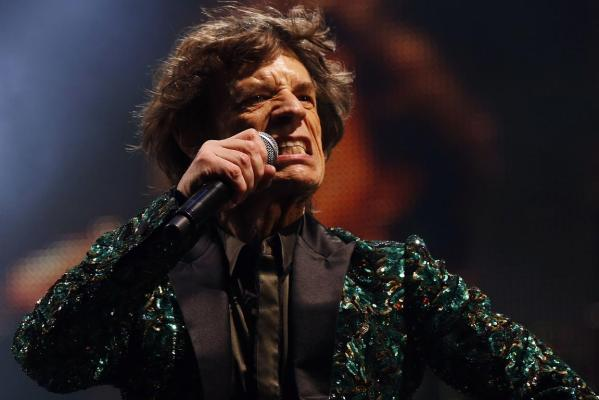 Sir Mick Jagger of The Rolling Stones pe