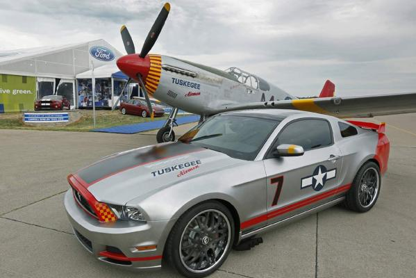 Ford's special edition Mustang that celebrates the Red Tails, the black Tuskegee Airmen who flew P51 Mustangs and bombers in World War II.