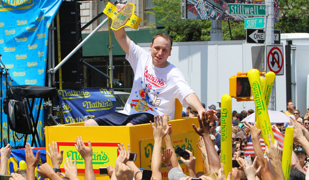 hot dog champ Joey chestnut