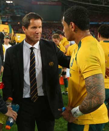 Robbie Deans and Joe Tomane